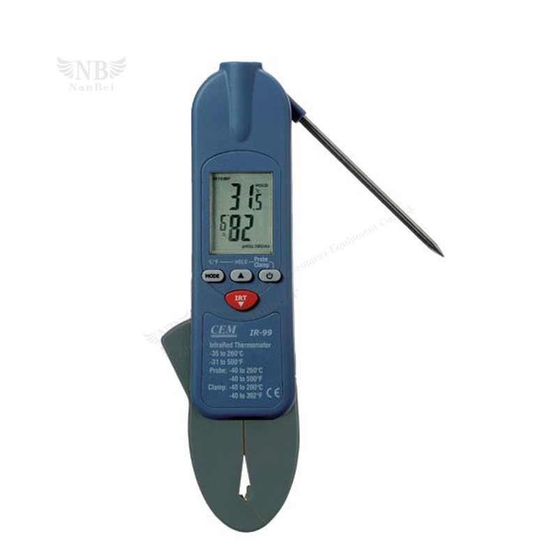 3 in 1 IR Thermometer with thermistor probe & Clamp