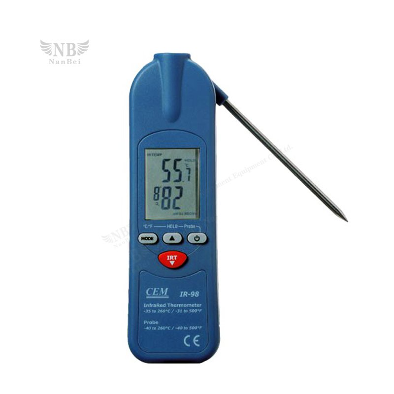 3 in 1IR Thermometer with thermistor probe & Clamp